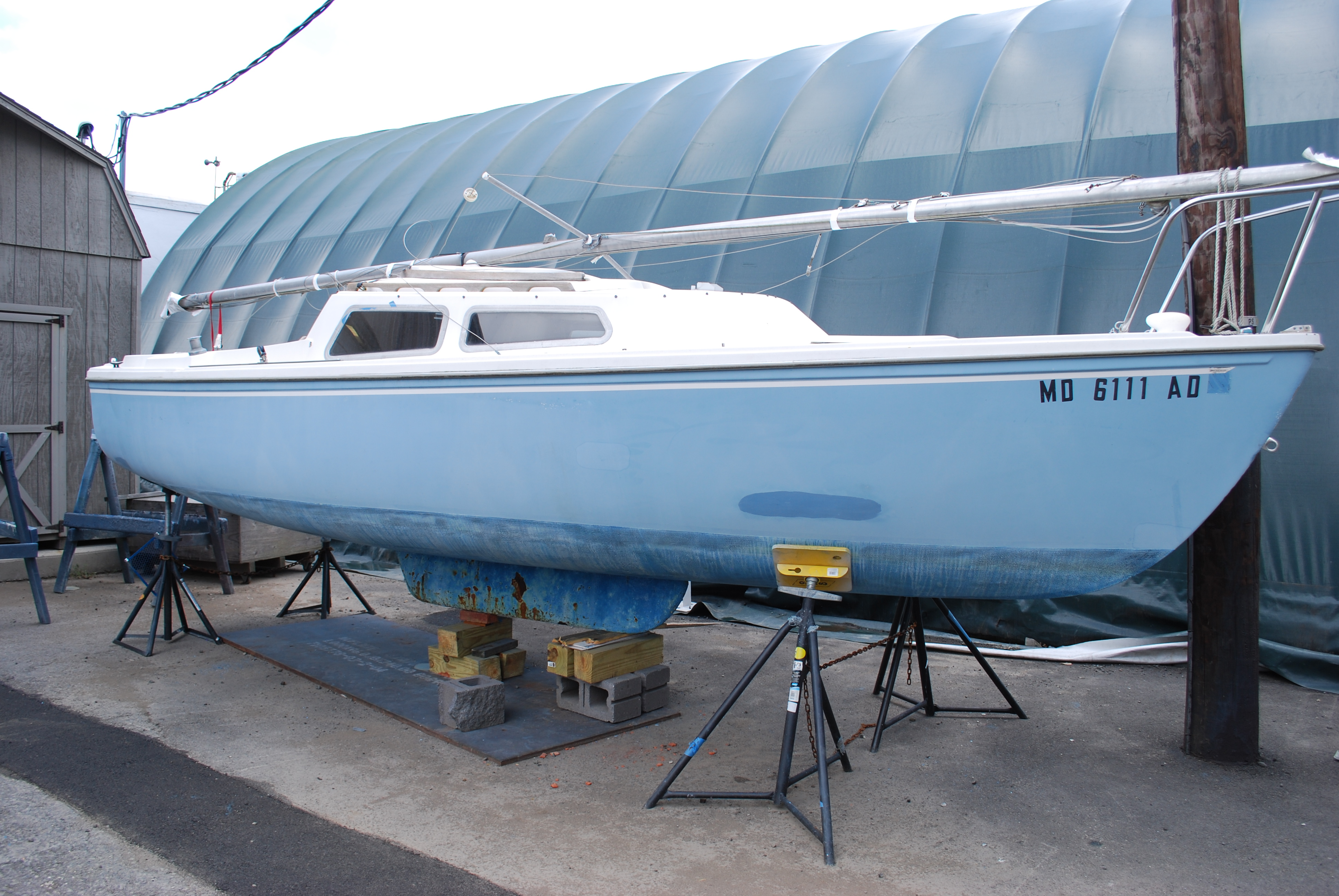The company acquired a Catalina 22 in need of serious restoration and ...