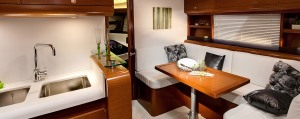 Comfort abounds below decks as well with a practical and elegant layout.