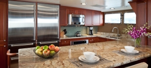 With plenty of storage areas, the galley is definitely one of the more prominent focal points aboard.