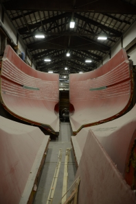 The massive hull of a Northern Marine build starts to take shape.