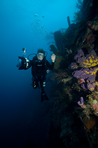 Sylvia Earle on a reef