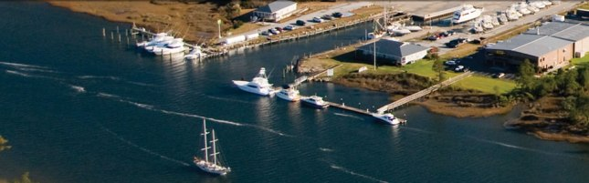 The sprawling Jarrett Bay Boatworks.