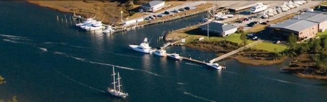 The sprawling Jarrett Bay Boatworks.