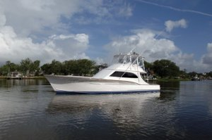 Lady Sarah, the Jarrett Bay 53 foot Custom that was built for Curtis.