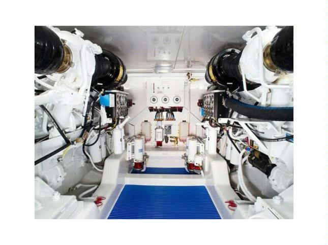 Engine room space is well laid out with all critical maintenance areas within easy reach.