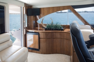 Comfort and luxury are part of having an enclosed bridge area.
