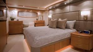 Comfort and elegance meet in perfect balance in the master stateroom