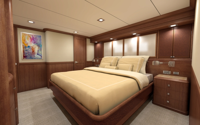 Working closely with the owners, Nordhavn delivered just what they wanted in the master stateroom.