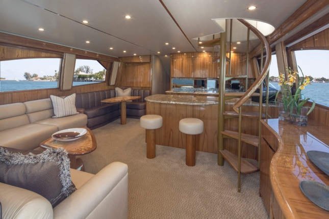 While deep water, big fish excitement is what this boat is all about, there's plenty of the same on the interior.