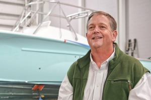 "Randy Ramsey, President of Jarrett Bay Boatworks. ""I'm very fortunate to be doing what I do."""