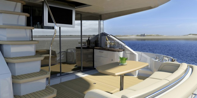 The aft deck area provides ample room for exciting activities.