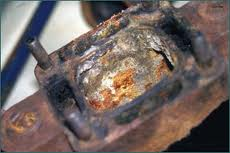 This kind of extreme corrosion in an exhaust manifold can mean big problems. Photo Credit:  BoatUS.