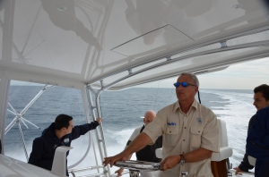 Cap'n Ken at the helm