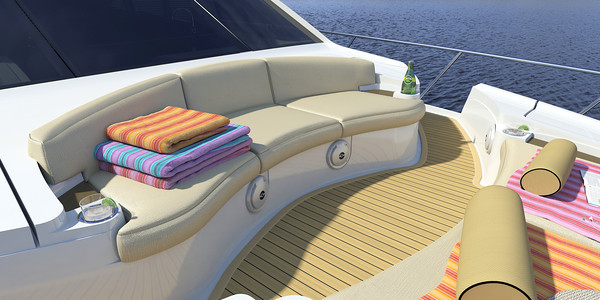 A spacious foredeck provides plenty of opportunity for family and friends to enjoy the surroundings.