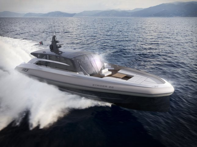 Christian Grande's Strider 22 Meter design is sure to set new standards in this sector of boat building.