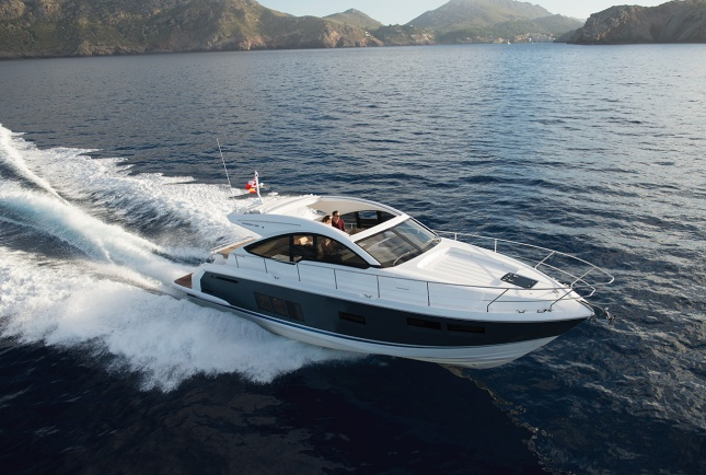 The Fairline T48 presents a sporty profile with European elegance.
