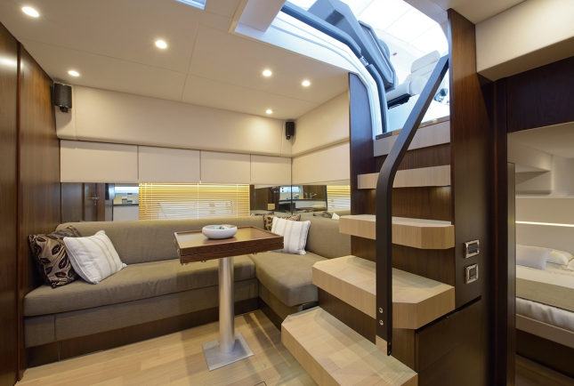 The excitement continues inside with a contemporary design that is sure to please the eye as well as the comfort of all who stay aboard.