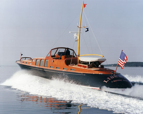 The 1999 launch of Liberty, a Bruce King design featuring an interior by Allan Walton, harkens back to the commuter express yachts of the 1900's used by Wall Street financiers. She is just one of the many exciting and unique projects Hodgdon Yachts has accomplished in its amazing career.
