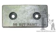 The all too familiar bolt-on zinc anode is necessary for protection against galvanic corrosion.
