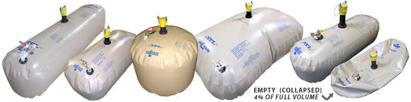 ATL manufactures custom bladder fuel tanks to fit your own needs and boat's configuration.