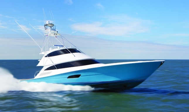 Viking's 92 EB cuts am eye-catching profile as she powers across the water. With her proportions in perfect balance, she is as beautiful as she is a formidable tournament fishing yacht.