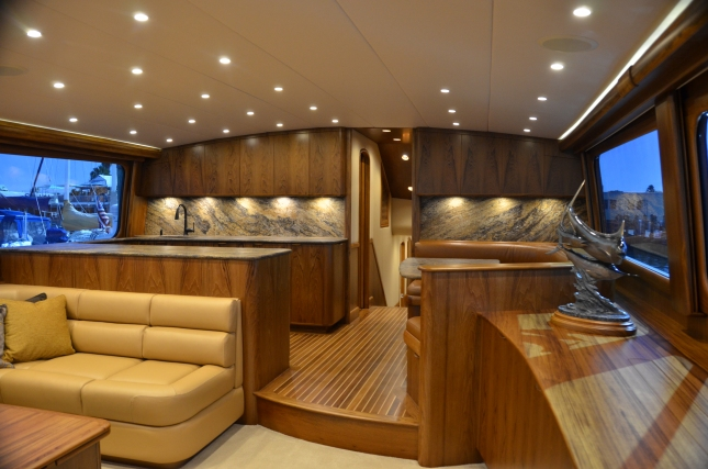 Painstaking attention to detail along with expert craftsmanship is apparent throughout the interior. (Photo Credit: Capt. Ken Kreisler)