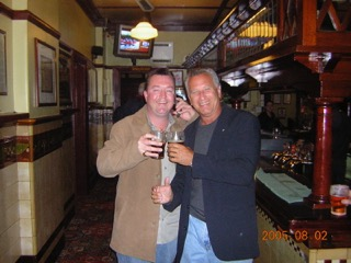 John and Capt. Ken, c.2005, Sydney Pub