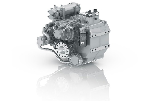 ZF Marine transmissions, rated up to 14,000 kW, are available in many configurations.