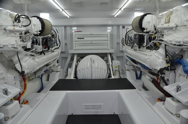 Abundant room makes this engine space as special as they come for any kind of maintenance and service.