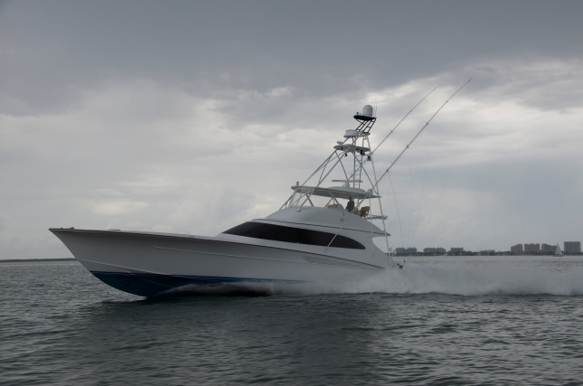 In the realm of big custom sport fishing boats, Blue Time is all about power, performance, and outstanding amenities.