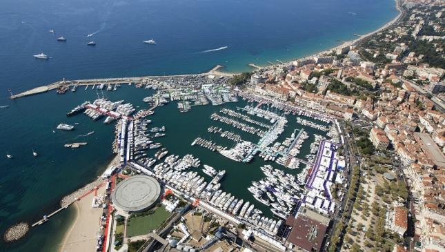 Cannes Yacht Festival venue.