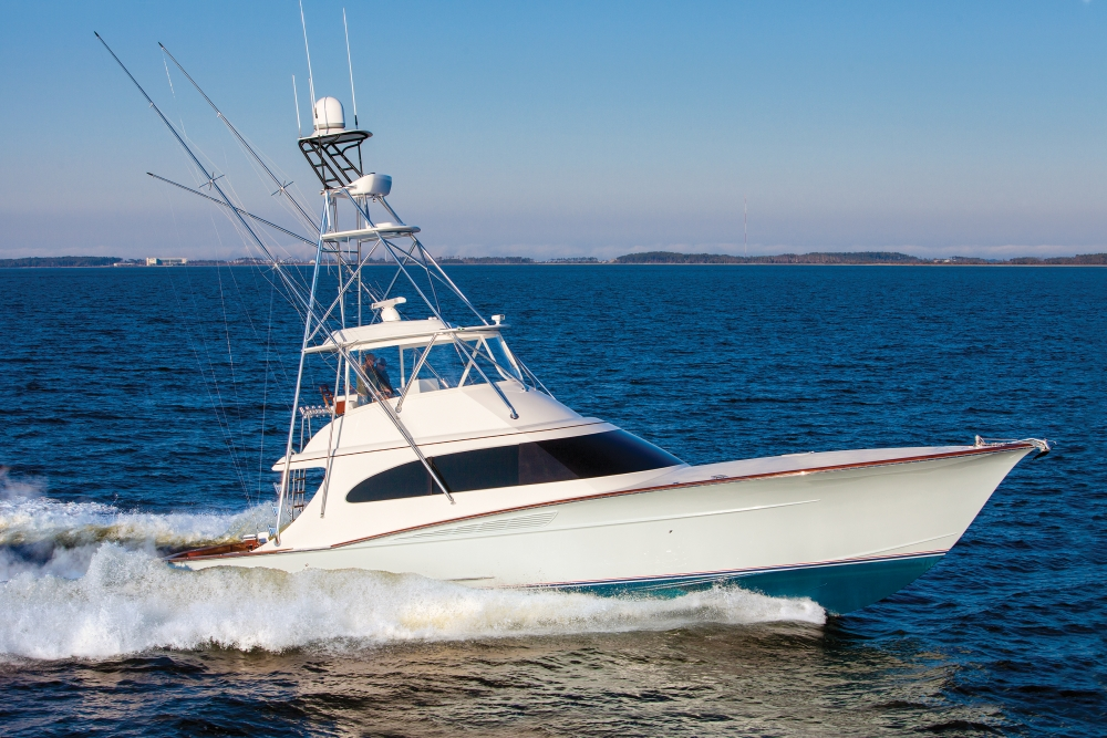 Custom sportfishing boats captain ken kreisler 39 s boat for Offshore fishing boat manufacturers