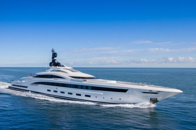 Stunningly beautiful with dramatic lines, CRN's YALLA is sure to be seen in all the ports of the world.