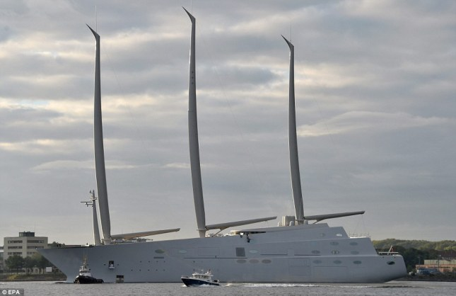 Built at the Nobiskrug, Germany yard, she will be the world's largest sailing yacht coming in at 144 meters or 468 ft. Sailing Yacht A is designed by Philippe Starck.