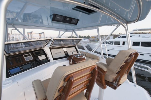 A bridge deck and helm truly worthy of an A-list tournament sportfishing yacht.