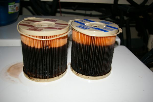 Dirty fuel filters
