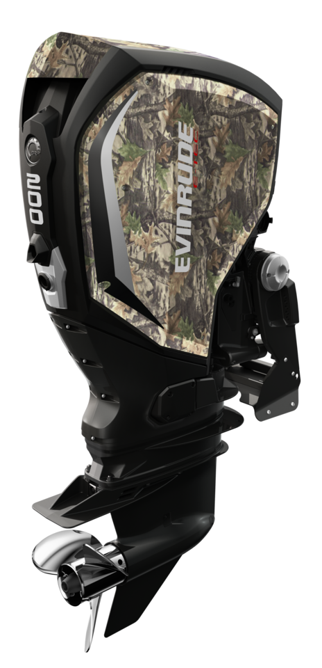 200 HP Evinrude E-TEC G2 - Mossy Oak Panels with Black Accents